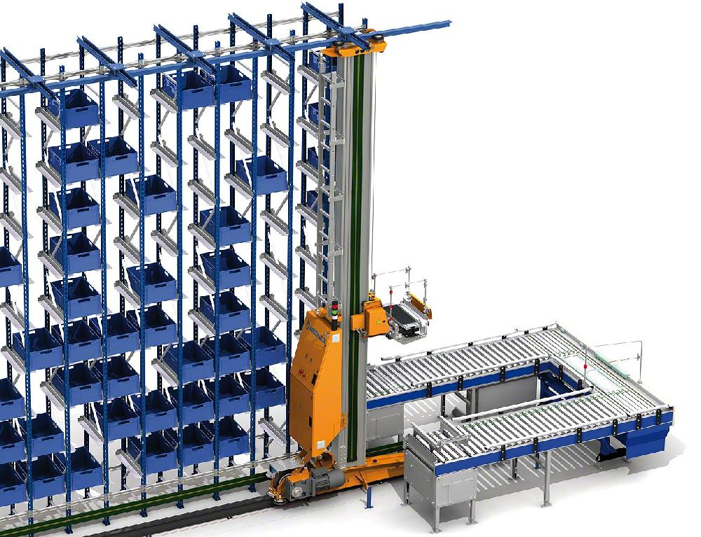Stacker cranes for boxes