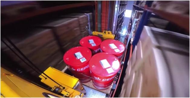 Cepsa: Conveyor system for pallets