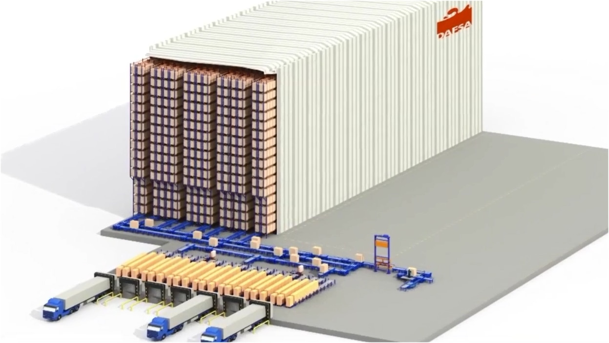 Dafsa: Conveyor system for pallets