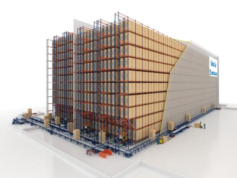 The Grupo Familia warehouse has a capacity to accommodate 19,000 pallets