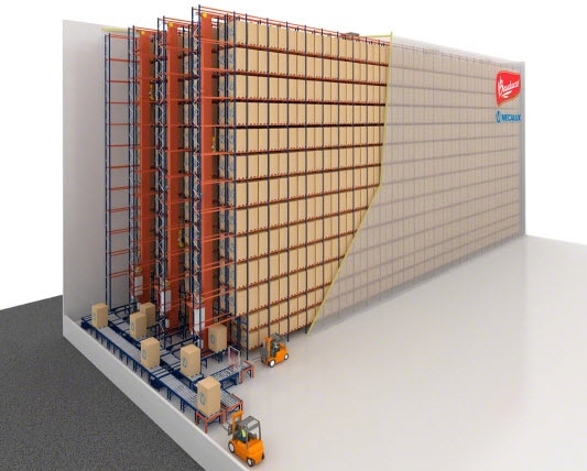 Panettone of Bauducco will be housed in a brand new automated clad-rack warehouse in Brazil