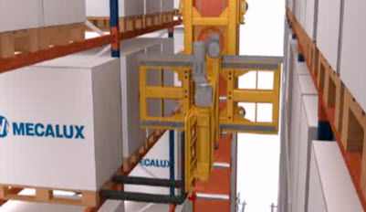 Automatic trilateral stacker crane
