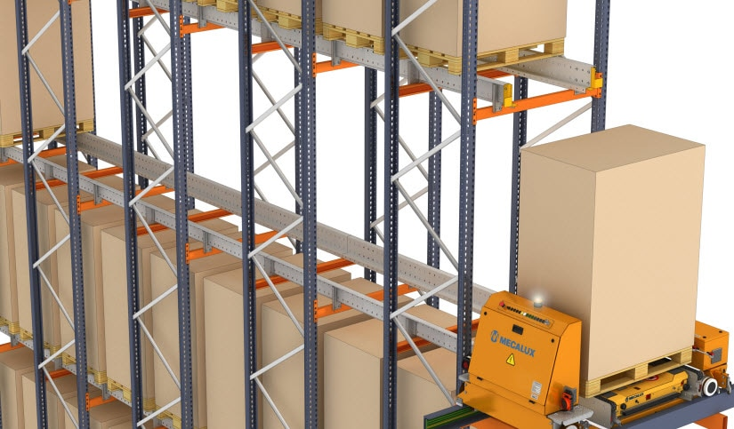 Automatic Pallet shuttle system with transfer car for Cabezuelo Foods