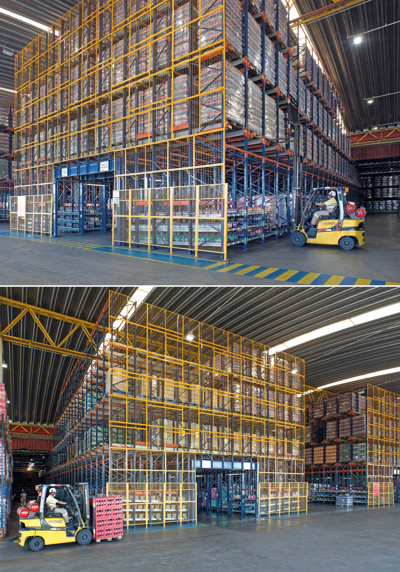 Pallet Shuttle can be combined with live storage for picking