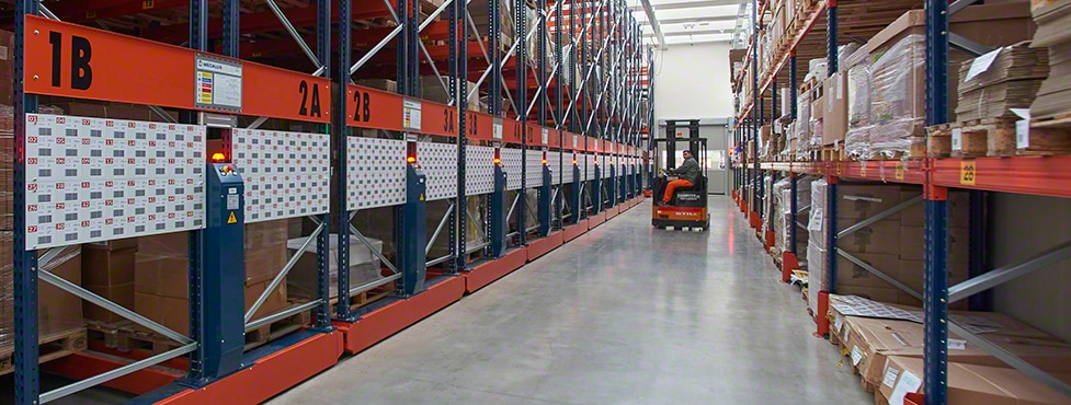 The Movirack system leverages all the surface area to gain capacity