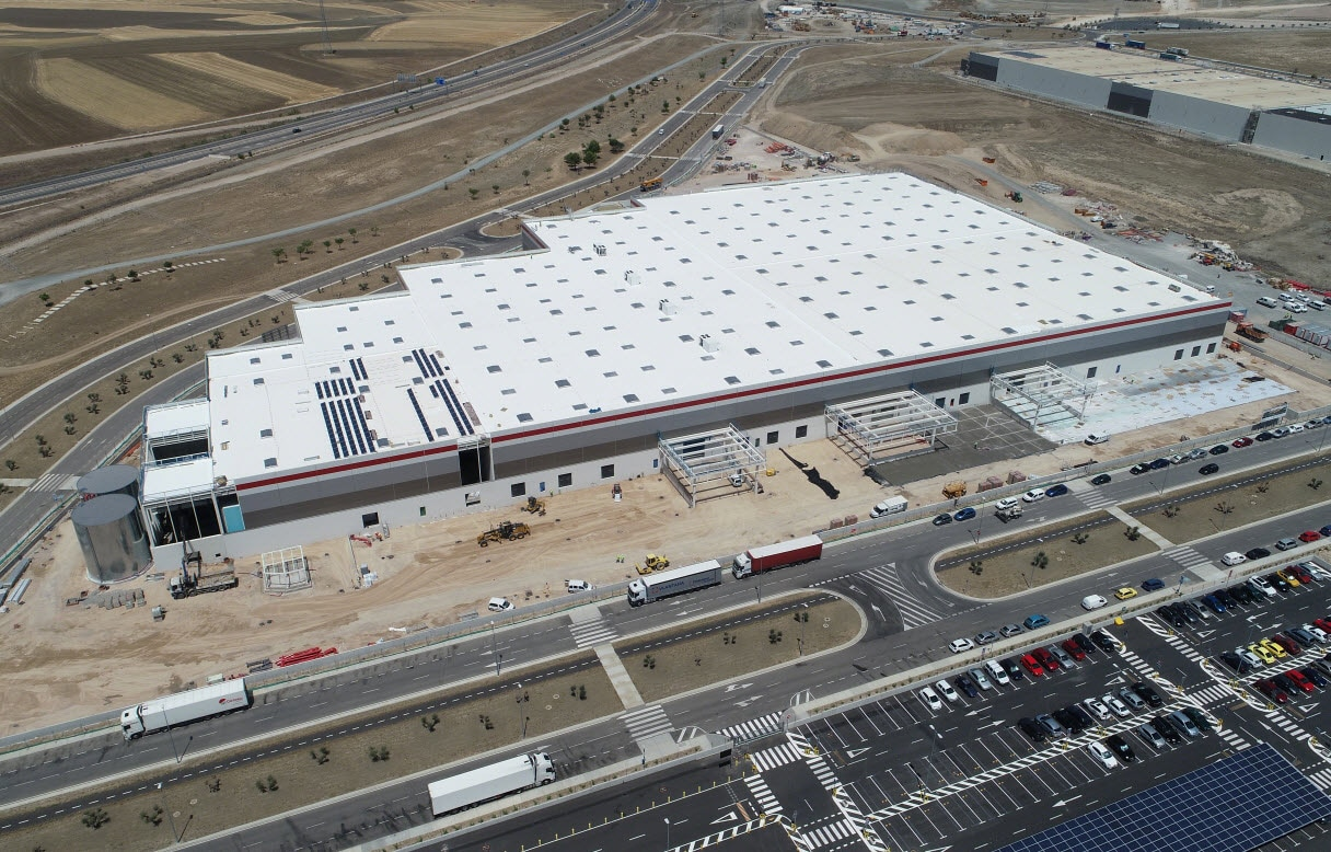 Three storage systems at the Airbus centre in Spain
