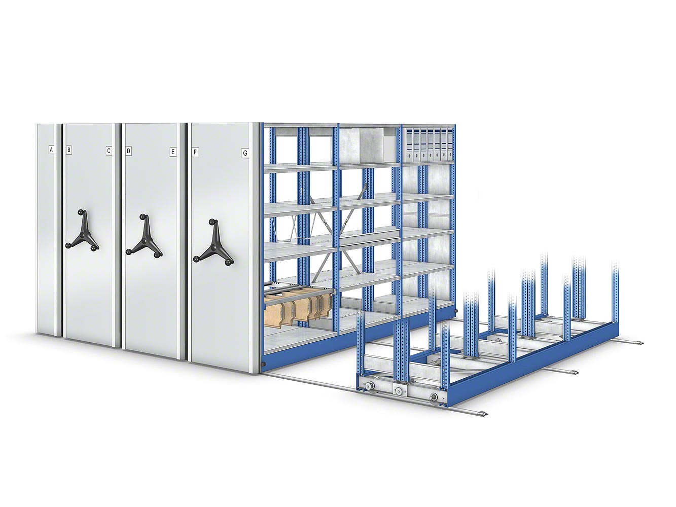 Movibloc mobile shelving